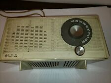 Vintage General Electric Am Tube Radio Model T-1110A Bell White Works !