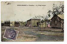MADAGASCAR DIEGO SUAREZ carte couleur du village indigene de TANAMBAO