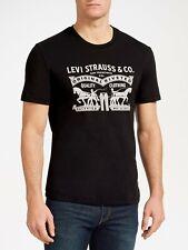 Men's Levis's 2Horse Graphic TShirt Crew Neck Short Sleeve Tee