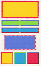 Mrs. Grossman's Giant Stickers - Vellum Panels Primary - Labels Seals - 2 Strips