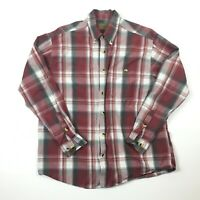 Clearwater Outfitters Mens Red & White Long Sleeve Button Down Shirt Sz L
