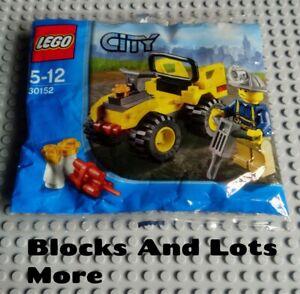 NEW LEGO City Town Construction - 30152 Mining Quad Polybag Set