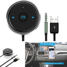 1x Car 3.5mm AUX Bluetooth Adapter Handsfree USB Power Supply with LED Indicator
