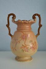 Antique Fieldings Crown Devon blush ivory vase Royal Devon pattern.