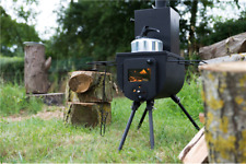 Bell Tent stove woodburner portable air flow control Glass window