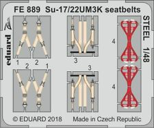 Eduard Zoom FE889 1/48 Sukhoi Su-17M3/M4/Su-22UM3K ceintures de sécurité en acier Kitty Hawk