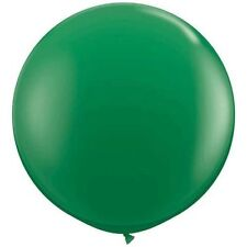 "(2) Qualatex 3 ft Green Balloon Round Latex Rubber Large Jumbo Big 36"" In"
