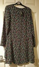 new with tags next black multi floral design knee length dress size 6