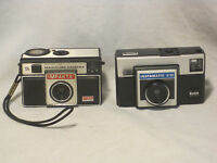 2 Vintage cameras camera 126 IMPAKTA X700 MAGICUBE & Kodak INSTAMATIC X-15
