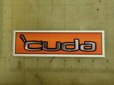 """Vintage Mopar 'Cuda orange sticker decal 6.5""""x1.7"""""""
