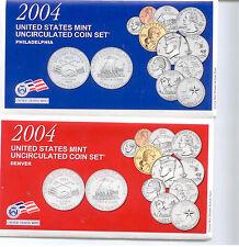 2004 US P&D MINT SET      $1.5 MILLION SALES ON EBAY #zz1