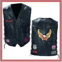 Gilet en Cuir pour Biker patch Aigle - NEUF - Leather vest eagle for biker NEW