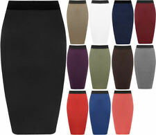 Viscose Straight, Pencil Machine Washable Solid Skirts for Women