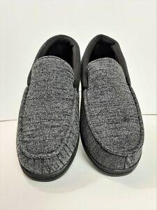 Mens Slippers Black/Gray Slippers Size 9-10  *206