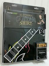 ThinkGeek Playable Electronic Rock Guitar T-shirt Adult Teen Large