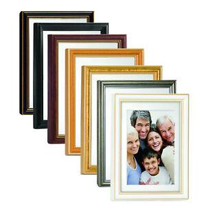 ASTRA WEIß PASSEPARTOUT HOLZ BILDERRAHMEN von 9x13 bis 40x50 bild bilder rahmen