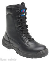 Himalayan 5060 S1P SRC Black Leather Steel Toe Cap High Leg Zip Up Safety Boots