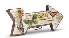 Be Brave Wood Carved Arrow Kelly Rae Roberts wood metal Demdaco