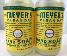 2 Mrs Meyers Hand Wash Soaps Honeysuckle Pump Bottle Clear Gel Liquid 25 fl oz