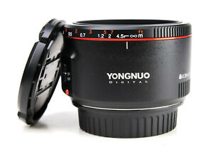 Yongnuo Digital 50mm F1.8  Mark II Autofocus Prime Lens for Canon Both Caps EXC