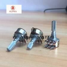 2pc 20mm Alpha C100K 100K Reverse Audio Taper Dual Potentiometer PC Mount