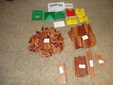 Huge Lot 362 Lincoln Logs Pieces Roofs Windows Gates Tons of Different Pieces