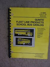 1987 Gunite Fleet Line Products School Bus Catalog Brake Drums Wheel Hubs   T