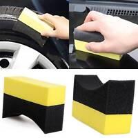 Portable Car Wheel Tire Waxing Polishing Cleaning Washing Sponge Clean Pad Brush