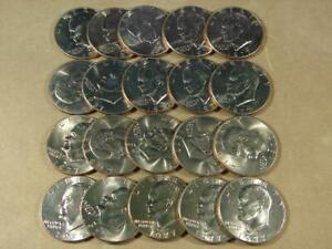 1977-D Eisenhower Dollar Uncirculated Roll Of 20 Coins