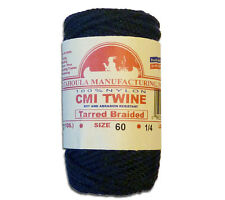 Catahoula No 60 Tarred Braided Bank Line 4 oz Spool 81 ft Nylon Twine