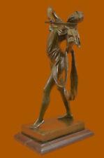 Hand Made Bronze Sculpture Violin Player Viola Musician Figure FigurineUG