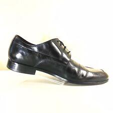 Black Saks Fifth Avenue Leather Apron Toe Dress Oxford Shoes Size 10M