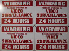 CCTV Signs Metal Warning Security Surveillance Camera Help Stop Crime Set of 4