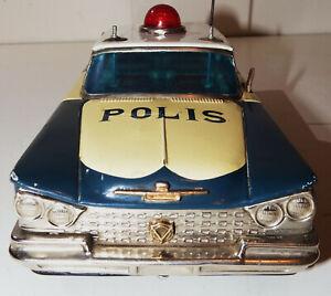"*** Japanese Tin Friction 1959 BUICK INVICTA ""Polis"" Car - No Reserve! ***"