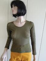 Shirt Hugo Boss Gr. S Gr. 36 - Gr. 38 oliv sexy Netzstoff klasse kombinierbar