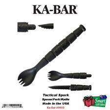 KA-BAR Tactical Spork Spoon/Fork Tool w/ Knife Blade, Made in USA, Camping #9909