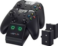 Venom Xbox One Twin Charging Station & Battery Packs - Black - VS2851