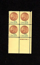 SCOTT # 1734 Indian Head Penny Issue United States Stamps MNH - Zip Block of 4