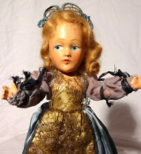 "c.1930s Composition 11"" Sls Antique Doll - Flirty Eyes - Awesome Cond. w/Outfit"