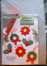 Needlecraft Shop Plastic Canvas Craft Kit Traditional Trimmng Christmas Ornament