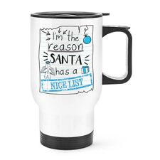 I'M El Reason Santa Tiene un Bonito Lista Viaje Taza con Mango Graciosa Navidad