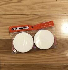 """Set of 2 """"White"""" LE CREUSET Rubber Caps for 8"""" Salt & Pepper Mill Grinders NWT"""