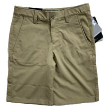 UNDER ARMOUR Boys Performance Golf Shorts HeatGear Tan Beige NWT YOUTH MEDIUM