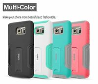 Samsung Galaxy Note 5 Case, Hybrid Dual Layer Protective Case with Kickstand