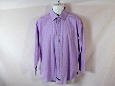 Men's Purple ENGLISH LAUNDRY Checkered Long Sleeve Button Down Shirt