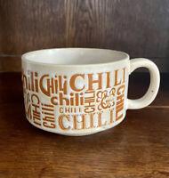 Vintage Mid Century Chili Soup Mug, Bowl, Stoneware Ceramic Speckled Cottagecore