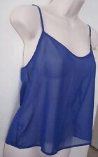 American Apparel Semi Sheer Cobalt Blue Chiffon Camisole Top ~ Size XS ~ NWOT