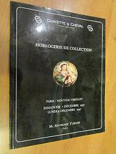 ancien livre catalogue vente chayette cheval horlogerie horloger horloge montre