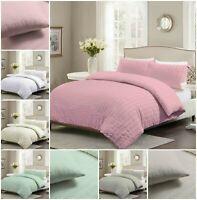 Soft Seer Sucker Duvet Cover Set Quilt Cover With Pillow Cases