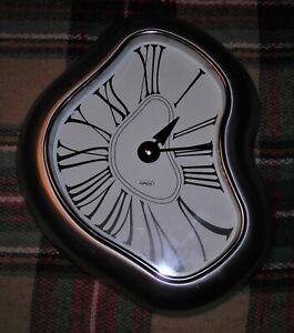 WALL CLOCK SALVADOR DALI MELTING METAL SURREAL VERICRON KIRCH 1812